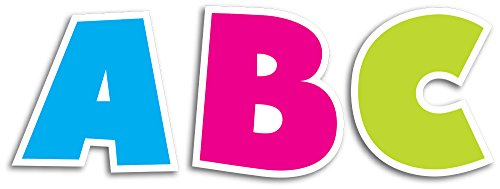 Creative Teaching Press Uppercase 2-Inch Letter Stickers, Bold Brights (4398)