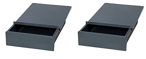 Edsal WD1218 Industrial Gray Steel Bench Drawer, 4'' Height x 12'' Width x 18'' Depth (Pack of 2) by EDSAL