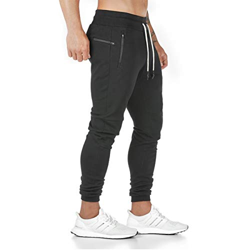 Yageshark Men's Jogging Cotton Trousers Fitness Slim Fit Bottoms Casual Trousers Joggers Streetwear