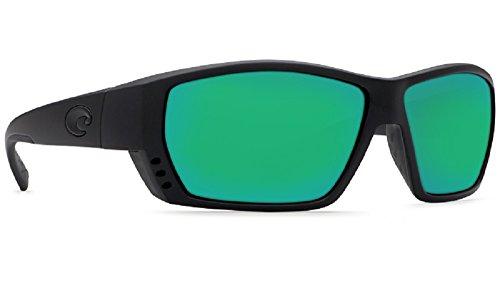 Costa del Mar Tuna Alley Polarized Iridium Wrap Sunglasses, Blackout, 61.9 mm