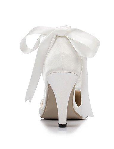GGX 4in Zapatos 3 3 4in boda Mujer y Marfil Fiesta 3in Tacones ivory Tacones 3 3 Blanco Boda Noche ivory de 3in Vestido gFqxrwag
