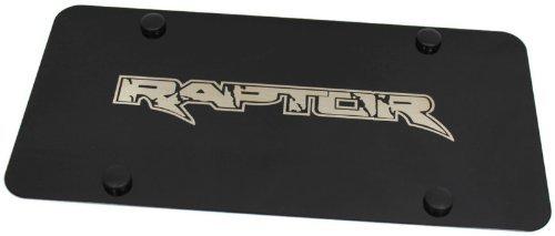 Ford F-150 SVT Raptor Emblem Logo Laser Etch Front License Plate Frame BLACK