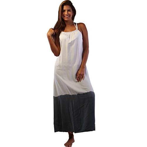 White rope neck maxi dress