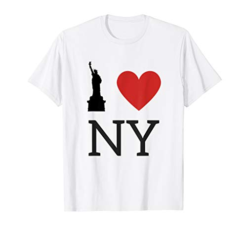 I Love NY, I Love New York T-Shirt with Statue of -
