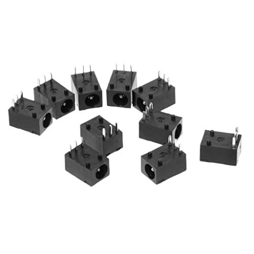 PoityA 10pcs DC-003 3.5x1.3mm DC Power Jack Socket Connector 3-Pin Panel Mount Plug ()