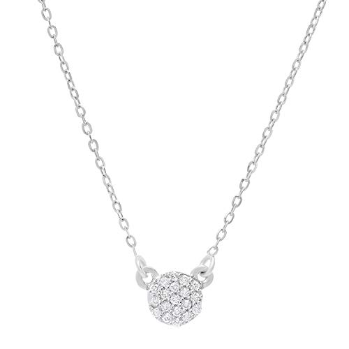 Lab Grown Diamond Circle Necklace in 10k Solid White for sale  Delivered anywhere in Canada