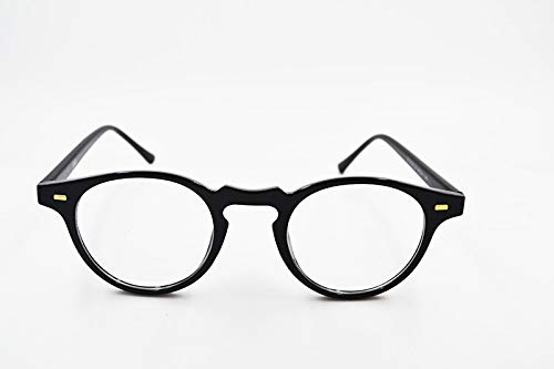 Labu Store Vintage Inspired Brand Style Clear Lens Glasses Small Circle Round Optical Eyeglasses for Students