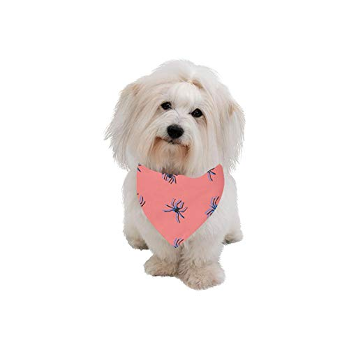 AIKENING Pet Dog Cat Bandana Spider Insect Crawl Animal Creativity Fashion Printing Bibs Triangle Head Scarfs Kerchief Accessories for Large Dog Pet Birthday Party Easter Gifts -