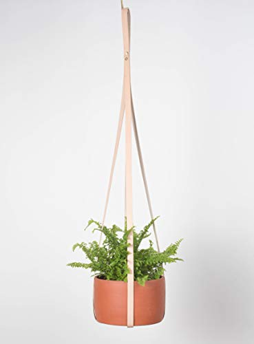 Teak&Tides Genuine Leather Plant Hanger Modern Hanging Planter for Indoor Plants - Take a Stand with a Twist on a Traditional Macrame Plant Hanger Holder Cotton - Perfect for Your - Hanger 7 Pot