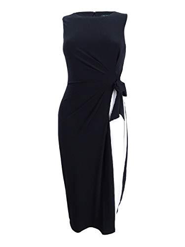 Lauren by Ralph Lauren Women's Petite Two-Tone Jersey Dress (0P, - Two Tone Dress Jersey