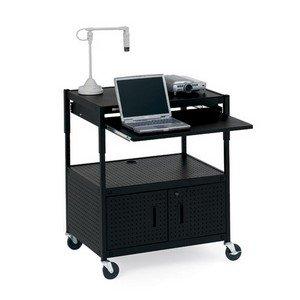 - Bretford Ecils3ff. Bk Adjustable Multipurpose Cart With Cabinet . Black