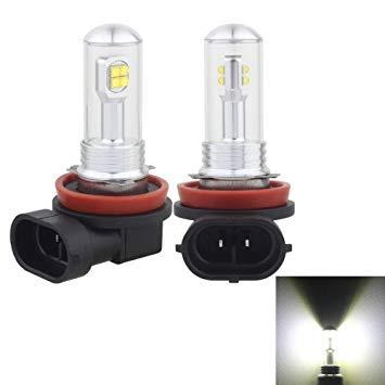 Uniqus 2 PCS H8 H11 40W 800 LM 6000K 8 CREE LEDs Car Fog Lights, DC 12V(White Light)