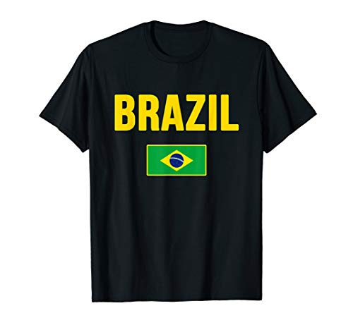 Brasil T-shirt Brazilian Flag Brazil Souvenir Gift ()