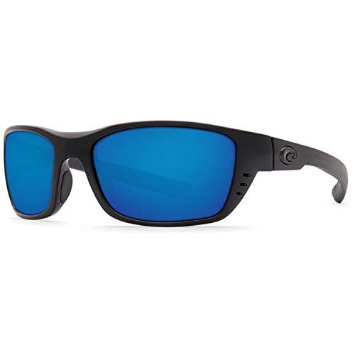 Costa Del Mar Costa Del Mar WTP01OBMP250 Whitetip Blue Mirror 580P C-Mate 2.50 Blackout Frame Whitetip, Blackout Frame, Blue Mirror 580P C-Mate 2.50, Small