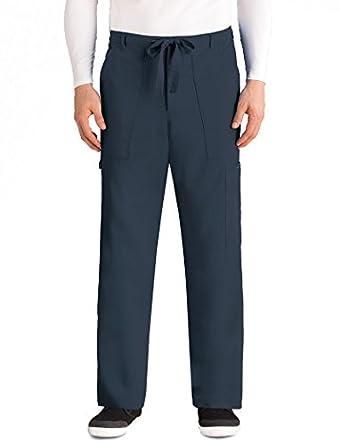 6ddae888f2f Greys Anatomy Men's Big 6 Pocket Zip Fly Drawstring Scrub Pant, Steel, 2X  Large: Amazon.in: Amazon.in