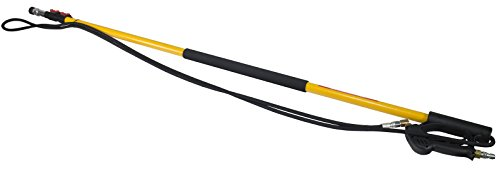 B E Pressure 85.206.018L Standard Fiberglass Telescoping Wand, 18' Length, 4000 psi, 200 Degree F, 8.0 GPM, Black/Yellow by B E Pressure