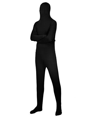 Black Full Body Spandex Suit (HDE Full Body Suit Unisex Halloween Zentai Costume Spandex Costume Cosplay Accessory)