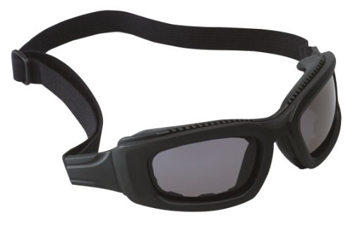 3M Maxim Safety Goggle 2x2, 40687-00000 Gray Anti-Fog Lens, Black Frame, Elastic Strap  (Pack of 1)