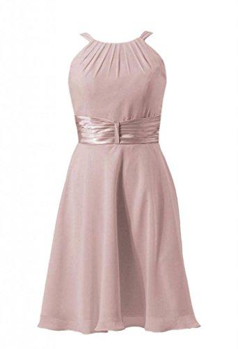 Rose Party DaisyFormals Dress Dress Chiffon dusty Short Bridesmaid Halter BM3728 18 Cocktail 7P1ZnBPpx