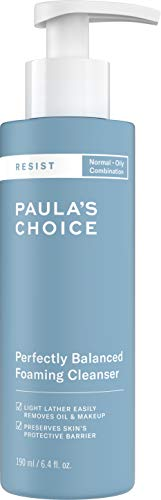 (Paula's Choice RESIST Perfectly Balanced Foaming Cleanser | Hyaluronic Acid & Aloe | Anti-Aging Face Wash | Large Pores & Oily Skin | 6.4 Ounce)