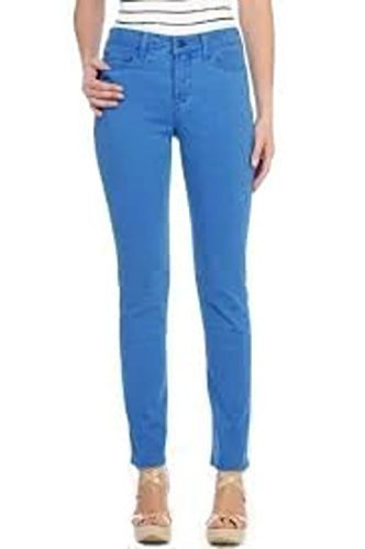 Not Your Daughters Jeans NYDJ Jeans 12P Blue Sheri Skinny In Washed Fine Line Twill Petite Womens