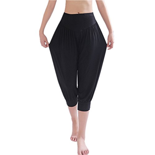 YoYoiei Womens Solid Color Soft Elastic Spandex Knickers Yoga Pants Harem Pants