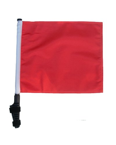 ORANGE Golf Cart Flag with SSP Flags EZ On & Off Bracket by SSP Flags Inc