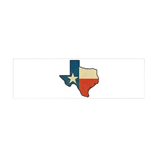 (36 x 11 Wall Vinyl Sticker Texas Flag Texas Shaped)