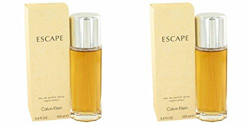 Calvĭn Kleĭn Escapé Perfùme For Women 3.4 oz Eau De Parfum Spray (2 Pack) + a FREE Wings Cologne 3.4 oz Shower (Calvin Klein Escape)