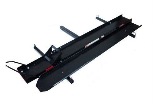 TMS T-MC-M800C 600-Pound Heavy Duty Motorcycle Sport Bike Hitch Carrier Hauler Rack with Loading Ramp