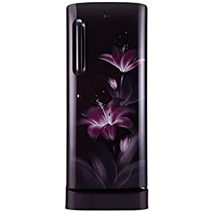 LG 235 L 4 Star Inverter Direct Cool Single Door Refrigerator (GL-D241APGY, Purple Glow, Base stand with drawer)