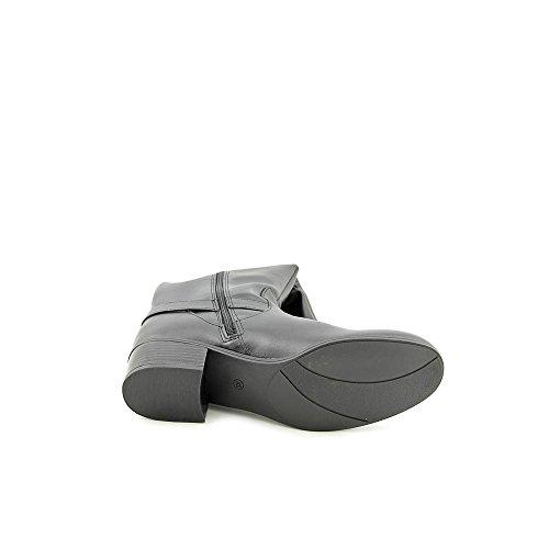 Karen Scott Darlaa Faux Leather Fashion Knee-High Boots,Black/Cognag,6.5M