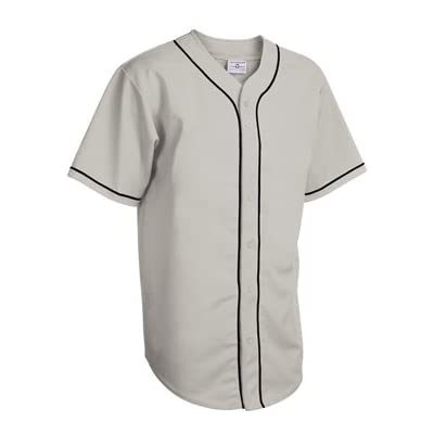 Adult Walk Off Full Button Piped Pro-Weight Polyester Jersey