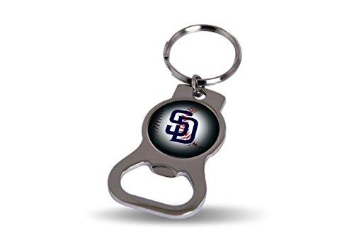 (Rico MLB Padres Bottle Opener Key Tag, 4 x 3, Logo Color)