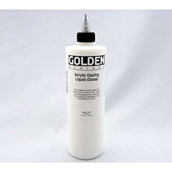Golden Artist Colors 16 Oz Acrylic Glaze Liquid Gloss,Clear