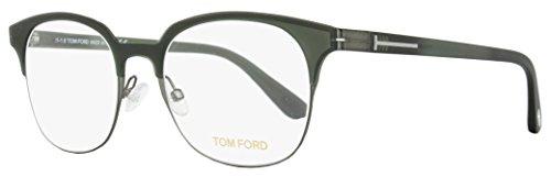 Tom Ford Oval Eyeglasses TF5347 020 Size: 51mm Dark Gray/Green FT5347 (Tom Ford Round Eye Glasses)