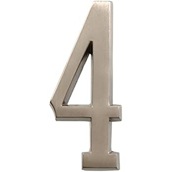 Stick on Self Adhesive 3M Backing 10cm No 0 Stainless Steel House Numbers