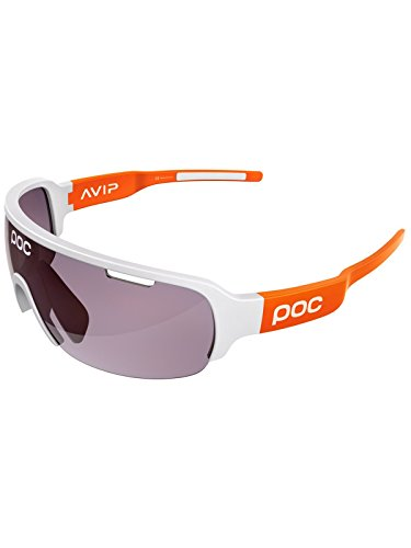 POC DO Half Blade AVIP Sunglasses, Hydrogen White/Zink Orange, One Size