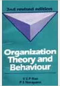 Book Organization Theory and Behaviour