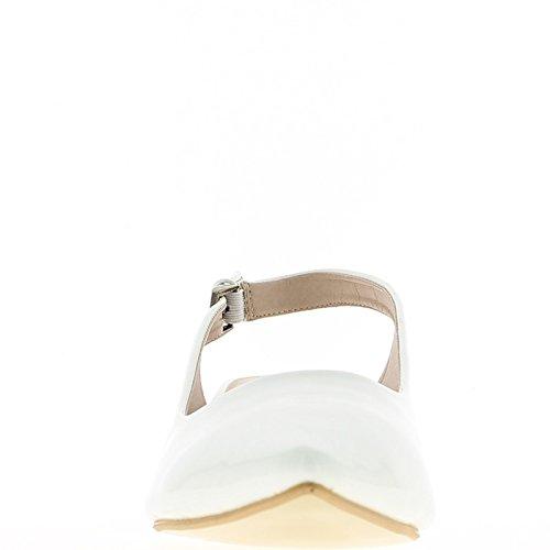 Zapatos de grandes tamaño blancos talones de uñas afiladas abierto 5cm