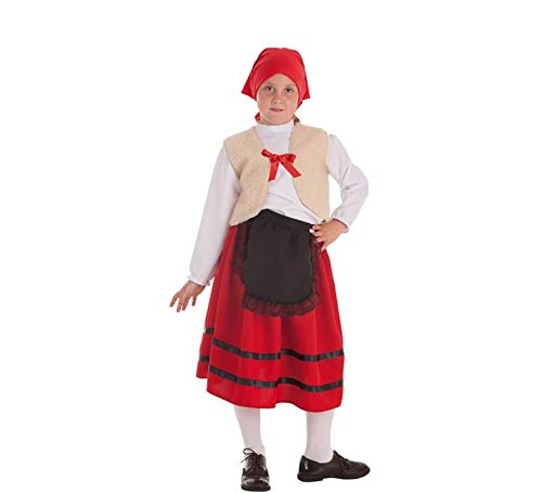 Creaciones Llopis Disfraz de Pastora con Chaleco para niña: Amazon ...