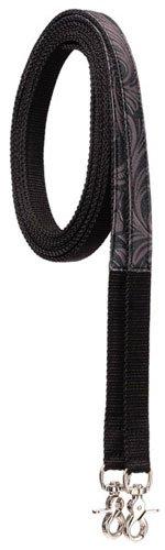 Tough-1 Fun Animal Print Split Reins - Leather Tooled Black