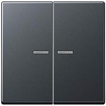 Jung A595BFKO5ANM - Tecla doble para interruptor pulsador doble con visor antracita mate: Amazon.es: Bricolaje y herramientas