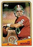 1988 Topps Joe Montana Football Card #38 - Shipped In Protective Display Case!