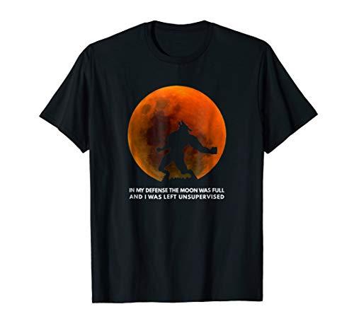 Full Moon Tshirt WereWolf for Kids womens Horror Halloween]()