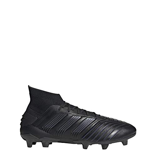 adidas Predator 19.1 Firm Ground Leather Cleats Men's, Black, Size 7.5