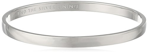 Kate Spade New York ''Idiom Bangles Find The Silver Lining Solid Bangle Bracelet by Kate Spade New York