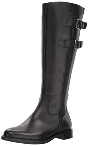 Image of ECCO Women's Shape 25 Tall Buckle Riding Boot,Black,39 EU/8-8.5 M US