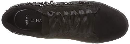 Black para 098 Tozzi Marco 23719 21 2 Mujer 098 2 Comb Zapatillas Negro xvf77q0wd