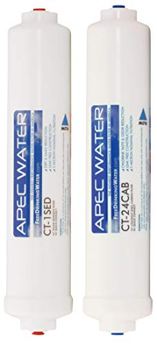 APEC Water Systems FILTER-SET-CTOP US Made Double Capacity Replacement Filter Set For Ultimate Series Countertop Reverse Osmosis Water Filter System Stage 1-2